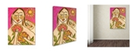 "Trademark Global Wyanne 'Big Diva Love's Secret Flowers' Canvas Art - 18"" x 24"""