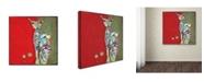 "Trademark Global Wyanne 'Three Cent Attitude' Canvas Art - 18"" x 18"""