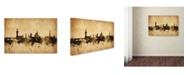 "Trademark Global Michael Tompsett 'Florence Italy Skyline' Canvas Art - 16"" x 24"""
