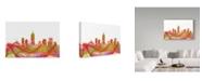 "Trademark Global Marlene Watson 'Indiana Indianapolis Skyline' Canvas Art - 16"" x 24"""
