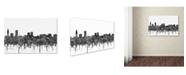 "Trademark Global Marlene Watson 'Baton Rouge Louisiana Skyline BW' Canvas Art - 16"" x 24"""