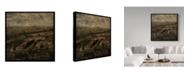 "Trademark Global John W. Golden 'Paris Cityscape' Canvas Art - 18"" x 18"""