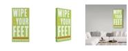 "Trademark Global John W. Golden 'Wipe Your Feet' Canvas Art - 16"" x 32"""