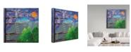 "Trademark Global Nicole Dietz 'Reach for the Stars' Canvas Art - 18"" x 18"""