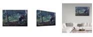 """Trademark Global Wilhelm Goebel 'June Strut' Canvas Art - 16"""" x 24"""""""