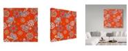 "Trademark Global Joyce Bantock 'Orange Paisley' Canvas Art - 18"" x 18"""