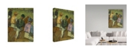 "Trademark Global Edgar Degas 'Four Jockeys' Canvas Art - 24"" x 18"""