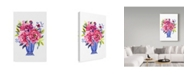 "Trademark Global Irina Trzaskos Studio 'Flowers 2' Canvas Art - 22"" x 32"""