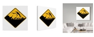 "Trademark Global J Hovenstine Studios 'Ark Crossing Sign' Canvas Art - 14"" x 14"""