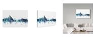 "Trademark Global Michael Tompsett 'New York Blue Teal Skyline' Canvas Art - 19"" x 12"""