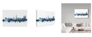 "Trademark Global Michael Tompsett 'Split Croatia Blue Teal Skyline' Canvas Art - 19"" x 12"""