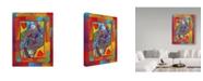 "Trademark Global Howie Green 'Queen Of Hearts Centered' Canvas Art - 24"" x 32"""