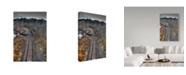 "Trademark Global Ian Tornquist 'Lonely Tracks' Canvas Art - 12"" x 19"""