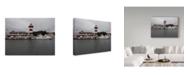 "Trademark Global J.D. Mcfarlan 'Harbortown Lighthouse' Canvas Art - 19"" x 14"""
