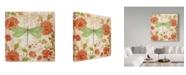 """Trademark Global Jean Plout 'Jardin De Luxe 2' Canvas Art - 14"""" x 14"""""""