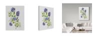 "Trademark Global Jean Plout 'Wild Rose Purple 2' Canvas Art - 14"" x 19"""
