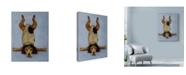 """Trademark Global Leah Saulnier 'K9 Contortionist' Canvas Art - 18"""" x 24"""""""