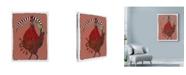 "Trademark Global Maria Pietri Lalor 'Cocorico' Canvas Art - 14"" x 19"""
