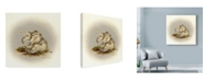 "Trademark Global Peggy Harris 'Patty Cake' Canvas Art - 14"" x 14"""
