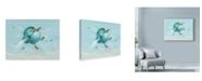 """Trademark Global Peggy Harris 'Over The Rainbow Bird' Canvas Art - 19"""" x 14"""""""