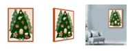 "Trademark Global Lisa Powell Braun 'Xmas Trees 2' Canvas Art - 14"" x 19"""