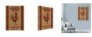 "Trademark Global Marcee Duggar 'Friendly Feeds Rooster' Canvas Art - 18"" x 24"""