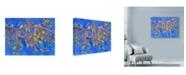 "Trademark Global Sharon Pitts 'Crab Apple In Tree' Canvas Art - 19"" x 14"""