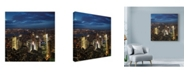"Trademark Global Nina Papiorek 'NYC Times Square' Canvas Art - 18"" x 18"""