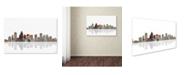 "Trademark Global Marlene Watson 'Charlotte North Carolina Skyline' Canvas Art - 16"" x 24"""