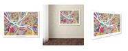 "Trademark Global Michael Tompsett 'Pittsburgh Pennsylvania Street Map' Canvas Art - 18"" x 24"""