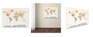 "Trademark Global Michael Tompsett 'Watercolour Political Map of the World' Canvas Art - 18"" x 24"""