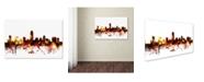 "Trademark Global Michael Tompsett 'Austin Texas Skyline III' Canvas Art - 16"" x 24"""