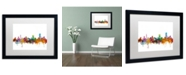 "Trademark Global Michael Tompsett 'Pretoria South Africa Skyline' Matted Framed Art - 16"" x 20"""
