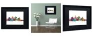 """Trademark Global Michael Tompsett 'Los Angeles California Skyline' Matted Framed Art - 16"""" x 20"""""""