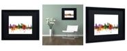 """Trademark Global Michael Tompsett 'Sacramento California Skyline' Matted Framed Art - 16"""" x 20"""""""