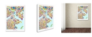"Trademark Global Michael Tompsett 'Boston MA Street Map 2' Canvas Art - 24"" x 32"""