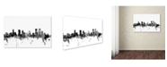 "Trademark Global Michael Tompsett 'Denver Colorado Skyline B&W' Canvas Art - 22"" x 32"""