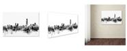 """Trademark Global Michael Tompsett 'Hong Kong Skyline B&W' Canvas Art - 22"""" x 32"""""""