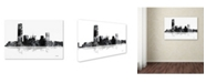 "Trademark Global Marlene Watson 'Oklahoma City Oklahoma Skyline BG-1' Canvas Art - 30"" x 47"""