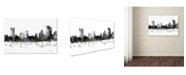 "Trademark Global Marlene Watson 'Pittsburgh Pennsylvania Skyline BG-1' Canvas Art - 22"" x 32"""