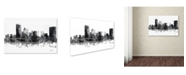 "Trademark Global Marlene Watson 'Toledo Ohio Skyline BG-1' Canvas Art - 22"" x 32"""