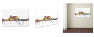 "Trademark Global Marlene Watson 'El Paso Mexico Skyline Mclr-1' Canvas Art - 22"" x 32"""