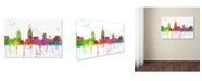 "Trademark Global Marlene Watson 'San Diego California Skyline Mclr-1' Canvas Art - 22"" x 32"""
