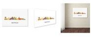 """Trademark Global Marlene Watson 'Buffalo New York Skyline WB-1' Canvas Art - 30"""" x 47"""""""