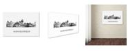 "Trademark Global Marlene Watson 'Albuquerque New Mexico Skyline WB-BW' Canvas Art - 30"" x 47"""
