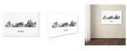 "Trademark Global Marlene Watson 'Reno Nevada Skyline WB-BW' Canvas Art - 22"" x 32"""