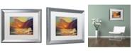 """Trademark Global Manor Shadian 'Hawaiian Coastal Sunset' Matted Framed Art - 20"""" x 16"""""""