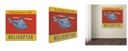 "Trademark Global Stephanie Marrott 'Helicopter' Canvas Art - 35"" x 35"""