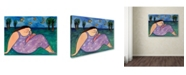 "Trademark Global Wyanne 'Big Diva Early Evening' Canvas Art - 35"" x 47"""