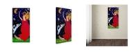 "Trademark Global Wyanne 'Big Diva Moonlight Goddess Dancing' Canvas Art - 24"" x 47"""